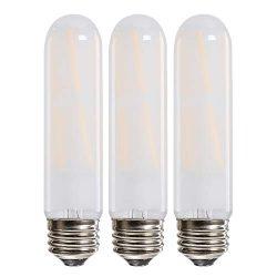 Leools T10 Led Bulb, 8W Dimmable Led Tubular Bulbs, 75 Watt Incandescent Bulb Equivalent, 2700K  ...