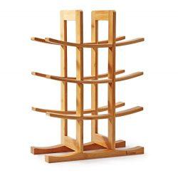Mosa Natural Bamboo 12 Bottle Wine Rack (11.8″ X 5.7″ X 16.3″), Wood Wine Rack ...