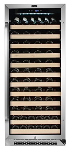 Whynter BWR-1002SD 100 Bottle Built-in Compressor Wine Refrigerator Rack and LED Display, Stainl ...
