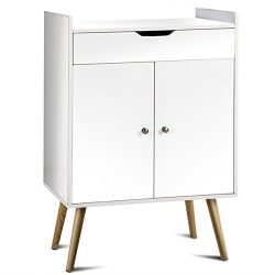 Storage Cabinet Two Door Buffet Sideboard Console Cabinet Table Sever Display White