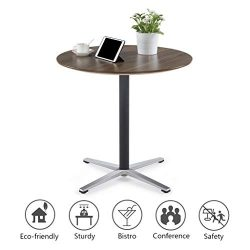 """Sunon Round Bistro Table Dia31.5""""x29.5"""" Height Small Round Table with X-Style Pedestal for Pub T ..."""