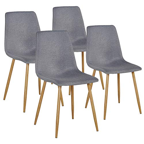 VECELO Dining Side Chairs,Fabric Cushion Seat Back Sturdy