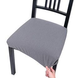 Homaxy Premium Jacquard Dinning Chair Seat Covers, Spandex Stretch Dining Room Chair Seat Cover, ...