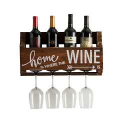 The Little Elm Wine Rack w/Quote 'Home is Where the Wine is', del Hutson Designs &#8 ...