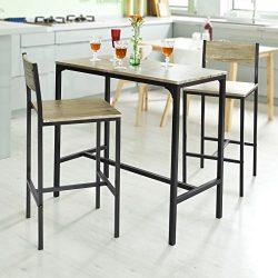Haotian OGT03,Sling High Bistro Set,Home Kitchen Outdoor Garden Bar Set,Patio Furniture, Bar Set ...