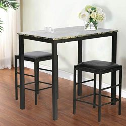 Dining Kitchen Table Dining Set Marble Rectangular Breakfast Wood Dining Room Table Set Table an ...