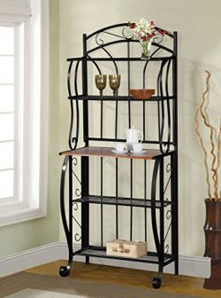 Home Source Baker's Rack, Black