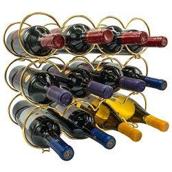 Sorbus 3-Tier Stackable Wine Rack – Round Classic Style Wine Racks for Bottles – Per ...