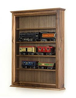 O Scale Model Train Display Cabinet- Walnut
