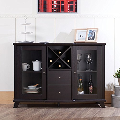 contemporary kitchens cabinets 247shopathome idi 13835 sideboards espresso diningbee 13835