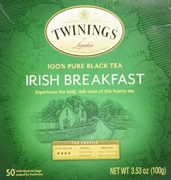 Twinings Irish Breakfast Black Bagged Tea, 50 Count