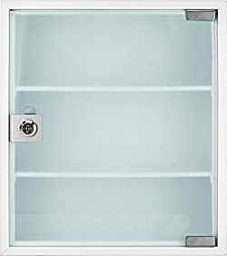 Winbest Large Wall Mount Steel Medical Medicine Storage Cabinet with Glass Door