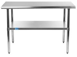 14″ X 36″ Stainless Steel Work Table with Undershelf | NSF Certified | Laundry Garag ...