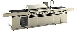 MCP Island Grills Modular 3 Piece Island Electric and Propane or Natural Gas BBQ Outdoor Grill K ...