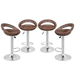 Nova Microdermabrasion Modern Ajustable Swivel Bar Stool Rattan Wicker Hydraulic Pub Barstool wi ...