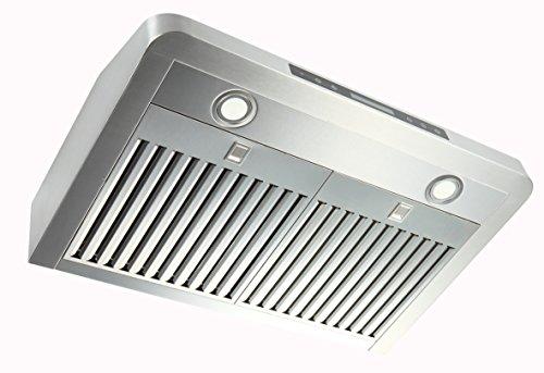 EKON NAC01 Super Slim Under Cabinet/Wall Mounted Kitchen Range Hood / 4 Speeds Touch Control LCD ...