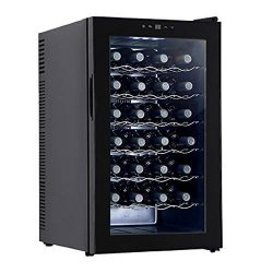 KUPPET BCW-70A 28 Bottles Thermoelectric Freestanding Wine Cooler/Chiller-Red/White Wine, Beer a ...