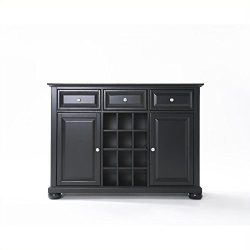 Crosley Furniture Alexandria Wine Buffet / Sideboard – Black