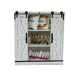 Sliding Barn Door Wall Storage Cabinet Freestanding Console Cabinet Buffet Modern Farmhouse Side ...