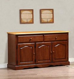 Sunset Trading DLU-22-BUF-NLO Oak Selections Buffet Only Only, Medium Walnut with Light Finish top