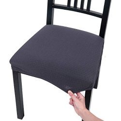 Homaxy Premium Jacquard Dinning Chair Seat Padded Covers, Spandex Stretch Dining Room Chair Seat ...