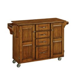 Home Styles 9100-1066G Create-a-Cart, Warm Oak Finish with Oak Top