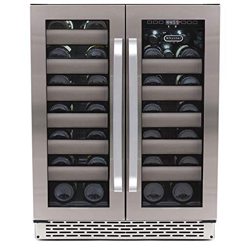Whynter BWR-401DA Elite 40 Bottle Seamless Door Dual Zone Built-in Wine Refrigerator, Stainless  ...