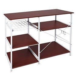 Xindda Multifunctional Kitchen Rack Microwave Oven Floor Shelf Storage Storage Cupboard, Ship fr ...