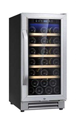 """Ausranvik 15"""" 32 Bottle Built-in Wine Cooler Wine Refigerator Single Zone S.S Door and Han ..."""