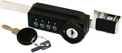 Combi-Ratchet 7865S 4-Dial Sliding Combination Ratchet Lock with Key Override for Glass Display  ...
