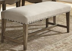 Liberty Furniture Industries 645-C6501B Weatherford Dining Upholstered Bench, 50″ x 18&#82 ...