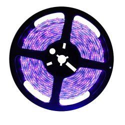 Happyskymall 5M DC12V 440nm-450nm SaltWater Aquarium Reef 440nm Actinic Blue LED Strip Lights fo ...