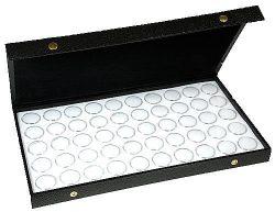 Gem Jars Display Case 50 White Gemstone Storage Container Organizer