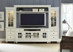 Liberty Furniture 631-TV74 Harbor View Entertainment TV Stand, 74″ x 19″ x 32″ ...