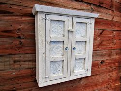 Shabby Chic Style Spice Cabinet, bathroom cabinet, Essential Oils cabinet, Distressed, French Co ...