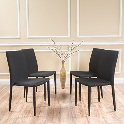Christopher Knight Home 296877 Comstock Chair (Set of 4) Black