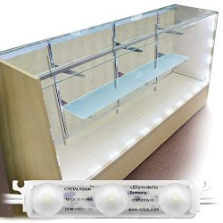 Crystal Vision Premium Samsung Pre-Installed LED Kit for Showcase, Display Case, Under Cabinet L ...