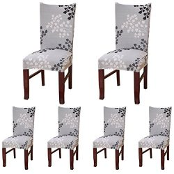 ColorBird Plant Series Spandex Dining Chair Slipcovers Removable Universal Stretch Chair Protect ...