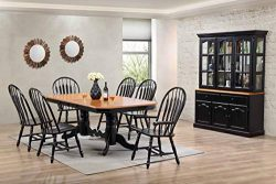 Sunset Trading DLU-TCP4284-4130A-22BHAB9PC Black Cherry Selections Dining Table Set Distressed A ...
