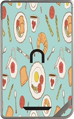Fun Breakfast Food Pattern Wallpaper Nook Color & Nook Tablet by Barnes and Noble Vinyl Deca ...