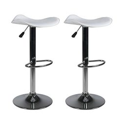 Milliard Bar Stools | Set of 2 | Height Adjustable 21.5″ – 30″ | Counter Heigh ...