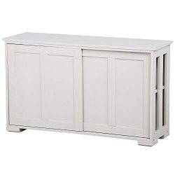 Seleq White MDF Buffet Cabinet Storage Cupboard
