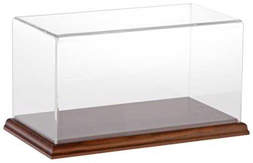 Plymor Brand Clear Acrylic Display Case with Hardwood Base, 10″ W x 5″ D x 5″ H