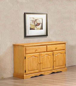 Sunset Trading DLU-22-BUF-LO Oak Selections Buffet, Light Finish