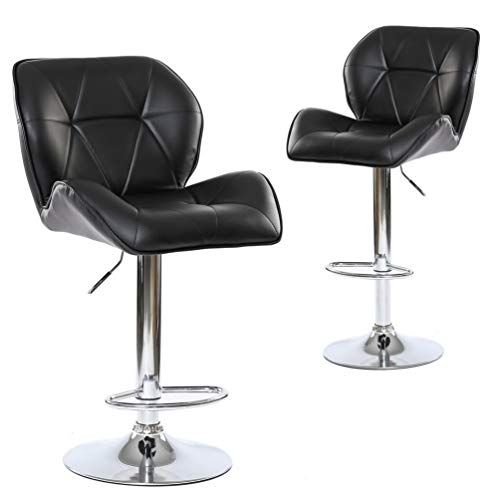 Adjustable Hydraulic Rolling Swivel Bar Stool Chair Salon Spa Stools Rest 360-degree Work Drafti ...
