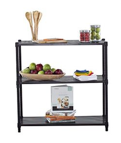 TRINITY 3-Tier Slat Shelving Rack, 36 by 14 by 35-Inch, Dark Bronze