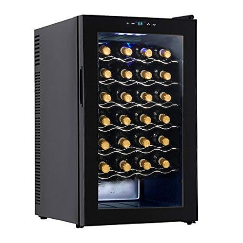KUPPET Wine Cooler Freestanding Thermoelectric Wine Refrigerator Cabinet Red and White Wine Cell ...