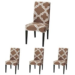 ColorBird Moroccan Series Spandex Dining Chair Slipcovers Removable Universal Stretch Chair Prot ...