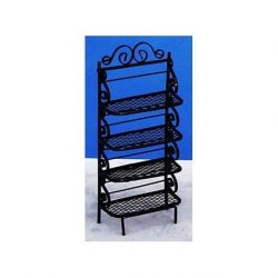 Dollhouse Baker's Rack Black