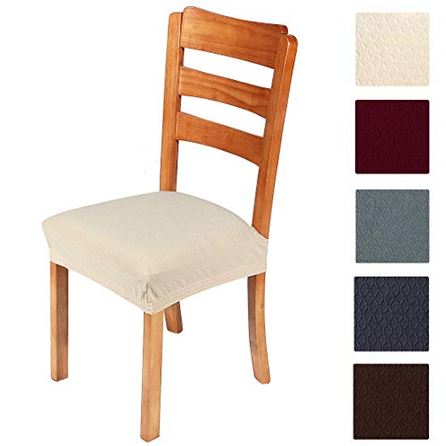 Smiry Stretch Jacquard Chair Seat Covers For Dining Room